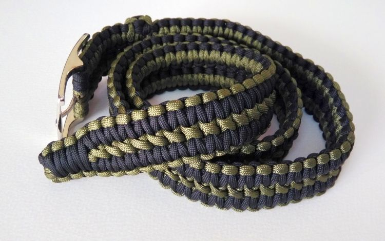 Survival Paracord Belt Camping Knitted Belt Outdoor
