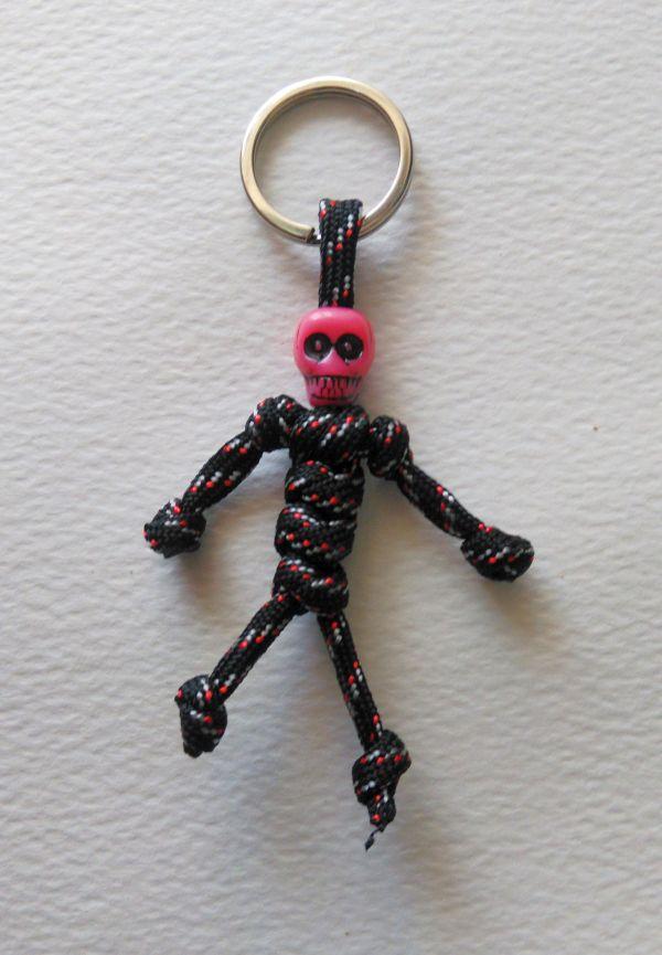 Paracord Survival Skull Mummy Key Chain Skeleton Key Chain